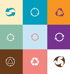 Recycle symbols set vector