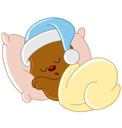 Teddy bear sleeping vector