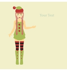 Cute santa helper vector