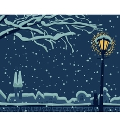 Night urban winter vector