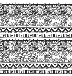 Seamless ornament from flower doodles and vector image