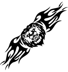 Lion and symmetric tribals - vector image