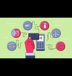 Card Contactless Payment Infographic vector image