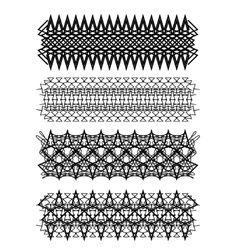 Vintage geometric ornament set on white background vector