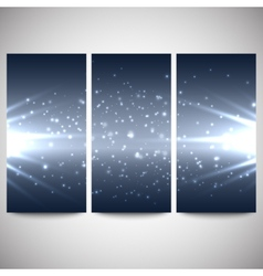 Abstract flash banners set dark design vector image
