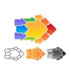 Arrow consisting of arrows concept vector image
