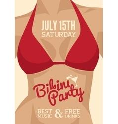 Bikini party vector