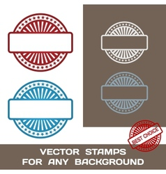 Blank Rubber Stamp Set Template For Any Background vector image vector image