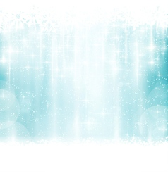 Blue winter Christmas background vector image vector image