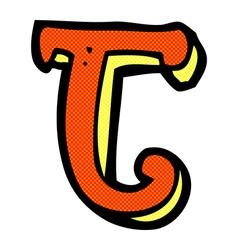 Comic cartoon letter j vector
