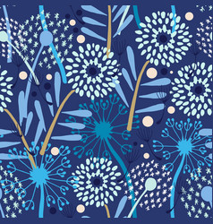 dandelion pattern on white vector image vector image