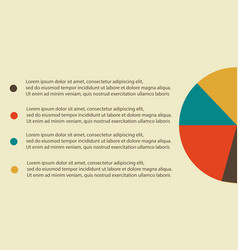 Diagram and data for business infographic vector
