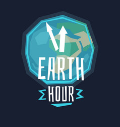 earth hour with the lamp vector image