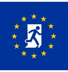 Exit from the European Union vector image