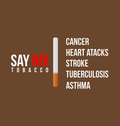 flat no tobacco day background vector image vector image