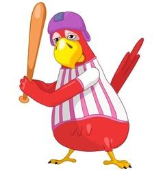Funny Parrot Baseball vector image