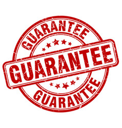 Guarantee red grunge round vintage rubber stamp vector