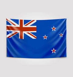 Hanging flag of new zealand new zealand national vector