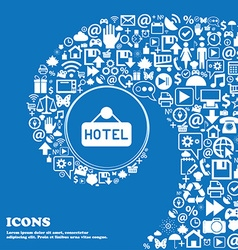 hotel icon sign Nice set of beautiful icons vector image vector image
