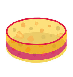 jelly cake with berries - strawberry blackberry vector image vector image