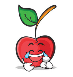 joy face cherry character cartoon style vector image vector image