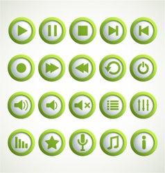 Media player icon vector image vector image