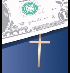 money bible vector image vector image