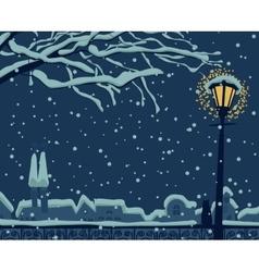Night urban winter vector