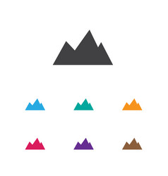 Of trip symbol on mountain vector