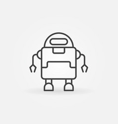 outline robot minimal icon or symbol vector image
