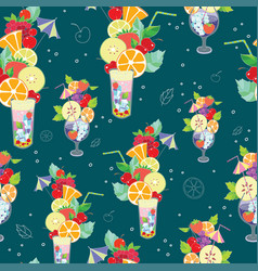 pattern of fantastic summer vector image vector image