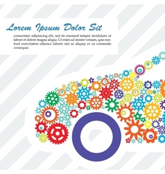 Poster of the car gears vector