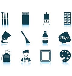 Set of painting icons vector image vector image