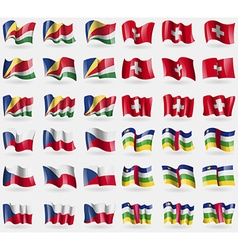 Seychelles switzerland czech republic central vector