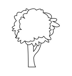 Tree plant nature ecology outline vector