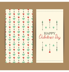 Valentine greeting set vector