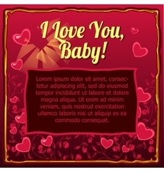 Valentines day card with space for your text vector image vector image