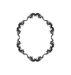 Vintage border frame classic victorian decoration vector