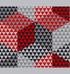 Red and gray geometry hexagon seamless fabric vector