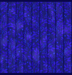 Blue leaves endless textured pattern with floral vector