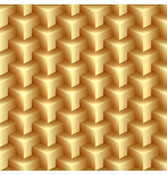 abstract gold pattern made from stacked vector image