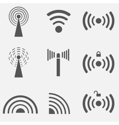 Wifi icon set vector