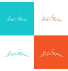Set color contours of the urban landscape vector