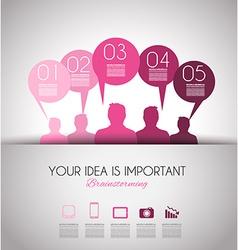 info brainstorming pinka vector image