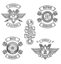 Set of car emblems badges vector