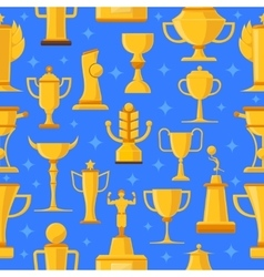 Awards and cups seamless vector