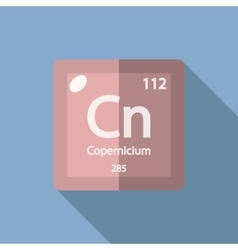 Chemical element copernicium flat vector
