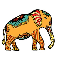 decorated Indian Elephant vector image