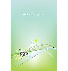 Spring card background vector image