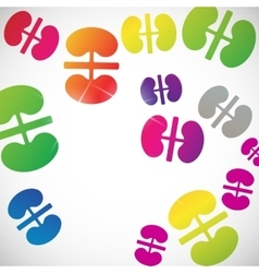 Abstract background kidneys vector